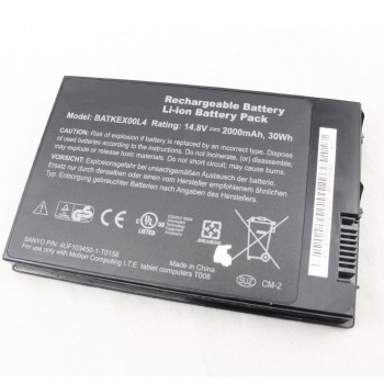Replacement Motion computing I.T.E. tablet computers T008 J3400 Series BATKEX00L4 Battery