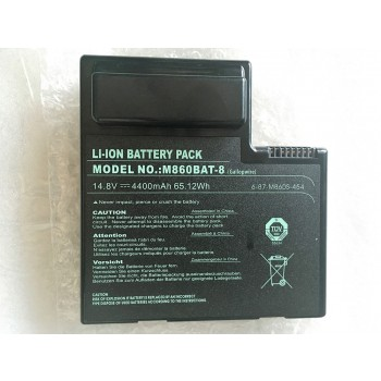 Replacement Clevo 6-87-M860S-4P4 M860TU M860BAT-8 65.12Wh Battery