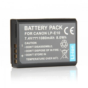 Replacement Canon LP-E10 EOS 1100D 1200D 1300D Camera Li-Ion Battery