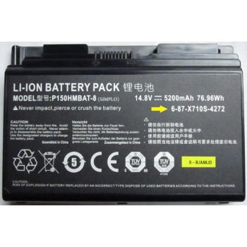 Replacement Clevo P150HM P151HM NP8150 NP8130 P150HMBAT-8 76.96Wh battery