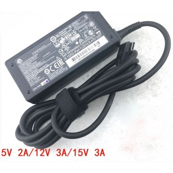 Genuine Hp TPN-CA01 TPN-CA02 5V-2A 12V-3A 15V-3A USB-Type-c AC/DC Adapter Power Charger
