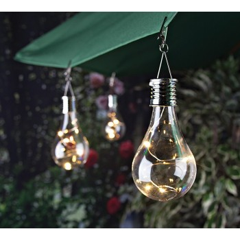 Waterproof Solar Light Bulb Solar Rotatable Outdoor Garden Camping Hanging LED Light Plastic solar Lamp