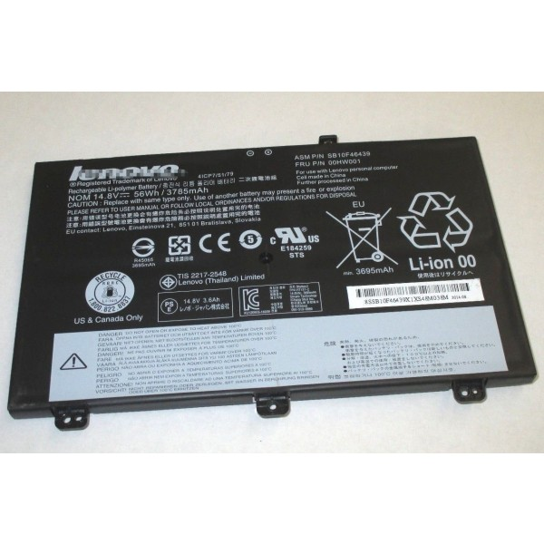 Lenovo ASM P/N SB10F46439 14 8V 56Wh Replacement Laptop