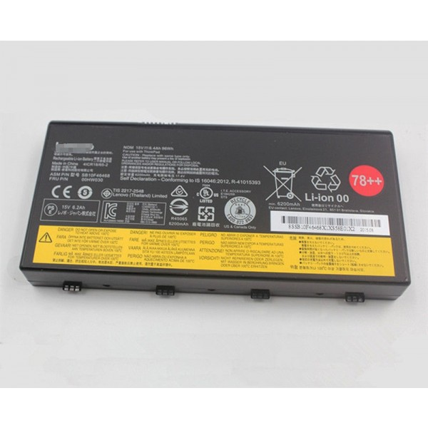 Lenovo 00HW030 15V 78++ 96Wh Replacement Laptop Battery for