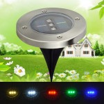 3 LED Solar LED Underground Light Lamp Outdoor LED Outdoor Garden Patio Buried Lights 5 Color
