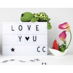 LED Cinematic Light Box with DIY 90 PCS BLACK Letters Cards A4 Size