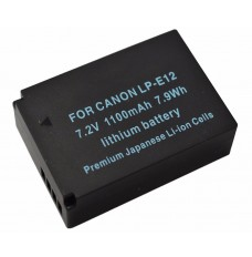 Canon Canon LPE12 7.2V Li-Ion 1100mAh Replacement Camcorder Battery