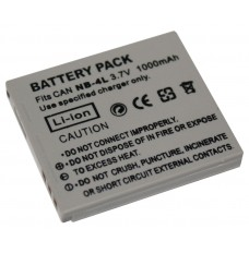 Canon NB4L 3.7V 1000mAh Replacement Camcorder Battery