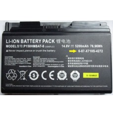 Clevo  P150HMBAT-8 14.8V 5200mAh Replacement Laptop Battery