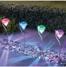 Diamond solar lights, Solar colorful diamond lights, Solar lawn lights - Free shipping