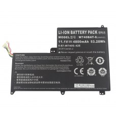 Clevo  W740S 11.1V 4800mAh Replacement Laptop Battery