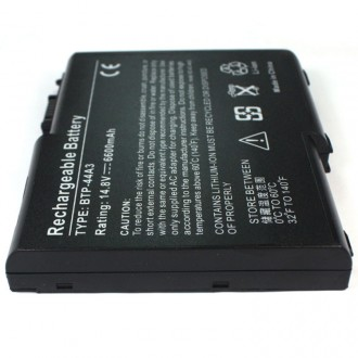 Replacement 12 Cell 6600mAh Dell Inspiron 250N Acer Aspire 1600 BTP-44A3 laptop battery