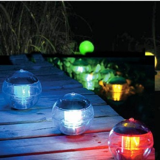 Waterproof RGB LED Ball Solar Power Floating Light Lamp Pool Lantern Outdoor Garden Pond Landscape Color Changing Night Lights