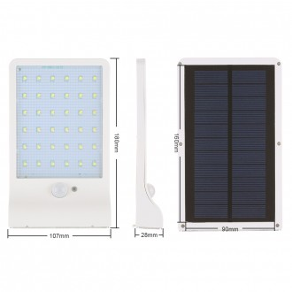 Waterproof Super Bright 36 LED 450LM Solar Lamp 3 Modes Security Wall Light PIR Motion Sensor Outdoor Night Light for Outdoor Wall Yard
