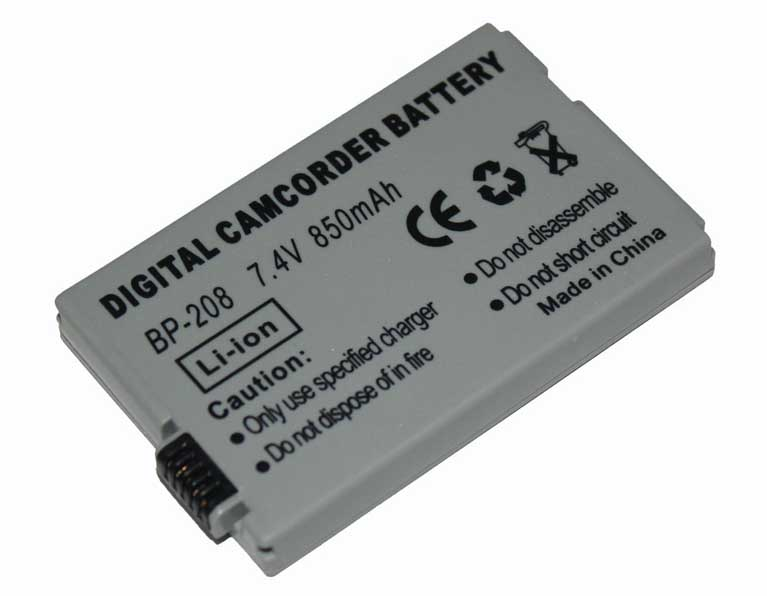 BP-208 BP-208DG Camcorder Battery For Canon DC10 DC100