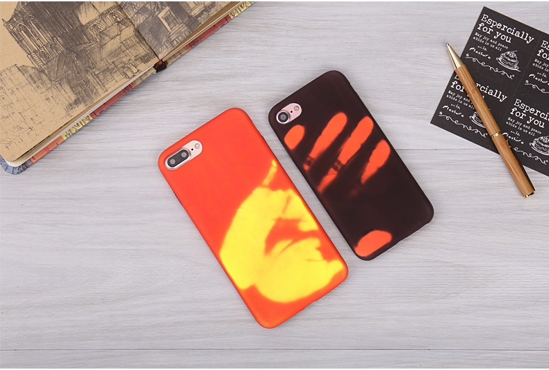 iPhone 7/6/6s/SE/5S/5 Thermal Sensor Fluorescent Thermal Heat Induction Magical Color Changing Case cover